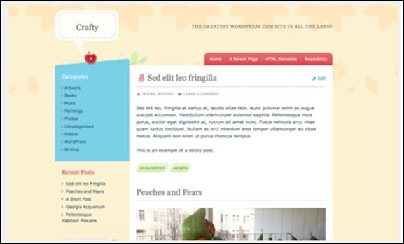 Crafty Theme — WordPress Themes for Blogs at WordPress.com
