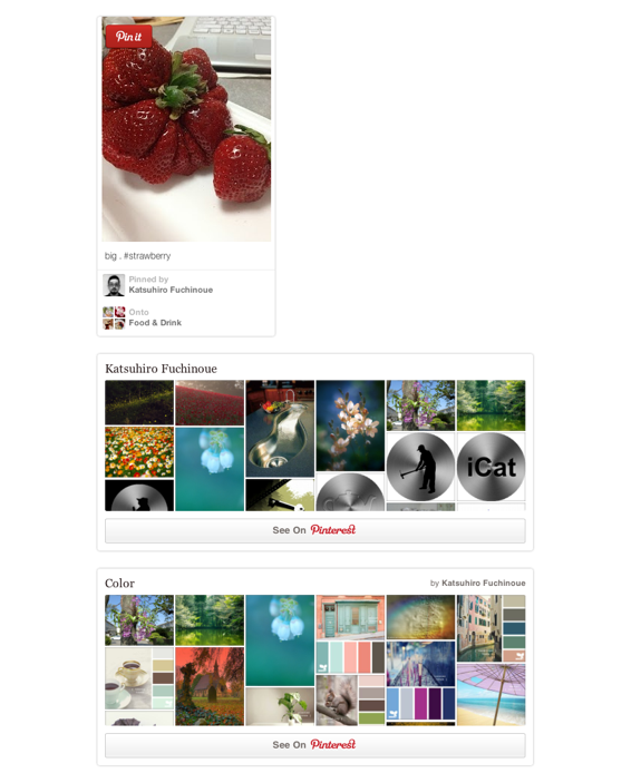 Pinterest の貼り付けテスト | comemo demo (com)