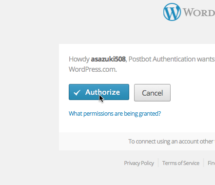 Authorize Postbot Authentication