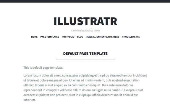 Default Page Template | Illustratr