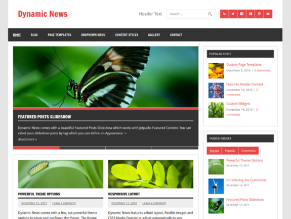 Dynamic News Theme — WordPress Themes for Blogs at WordPress.com