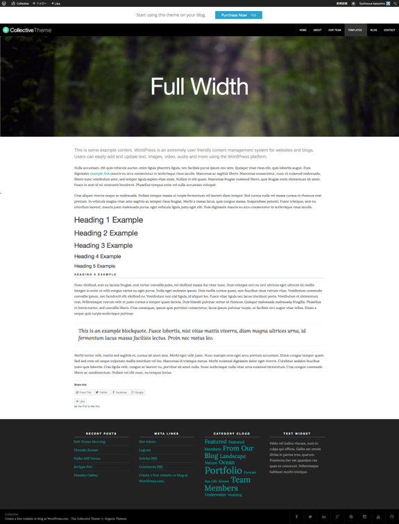 Full Width  Collective