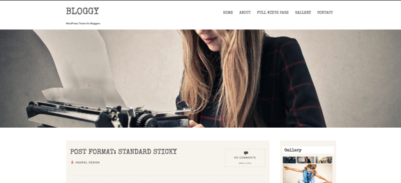 Bloggy | WordPress Theme for Bloggers-1