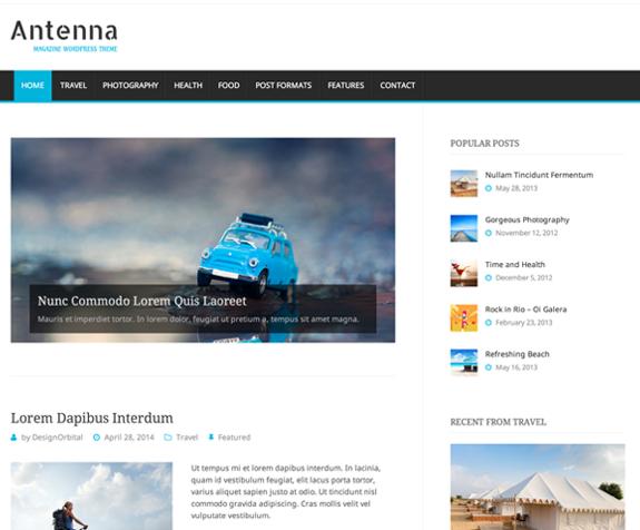 Antenna Theme — WordPress Themes for Blogs at WordPress.com