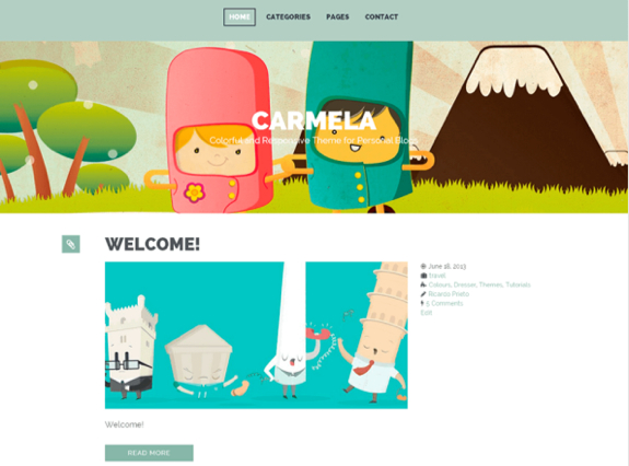 Carmela Theme — WordPress Themes for Blogs at WordPress.com