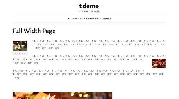 Full Width Page | t demo-1