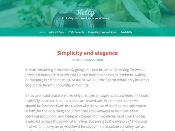 Kelly Theme — WordPress Themes for Blogs at WordPress.com