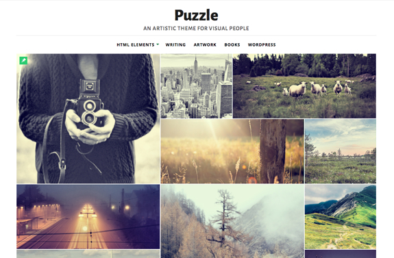 Puzzle | An Artistic theme for visual people