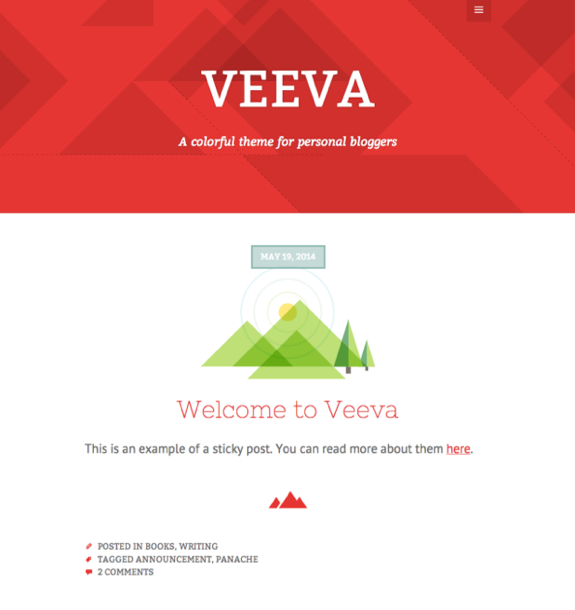Veeva Theme — WordPress Themes for Blogs at WordPress.com