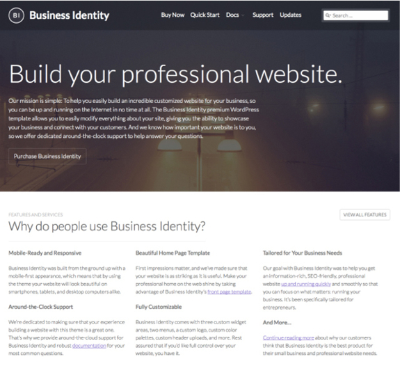 Business Identity Theme — WordPress Themes for Blogs at WordPress.com