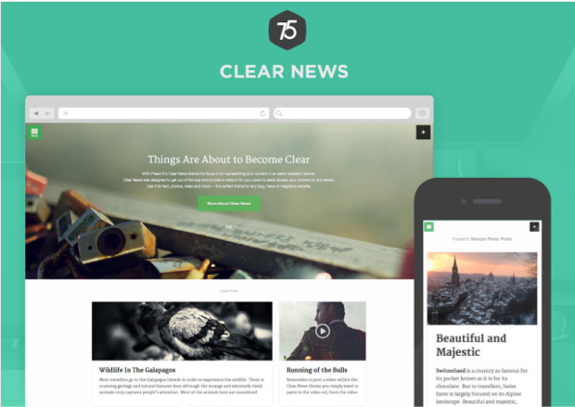Clear News Theme — WordPress Themes for Blogs at WordPress.com
