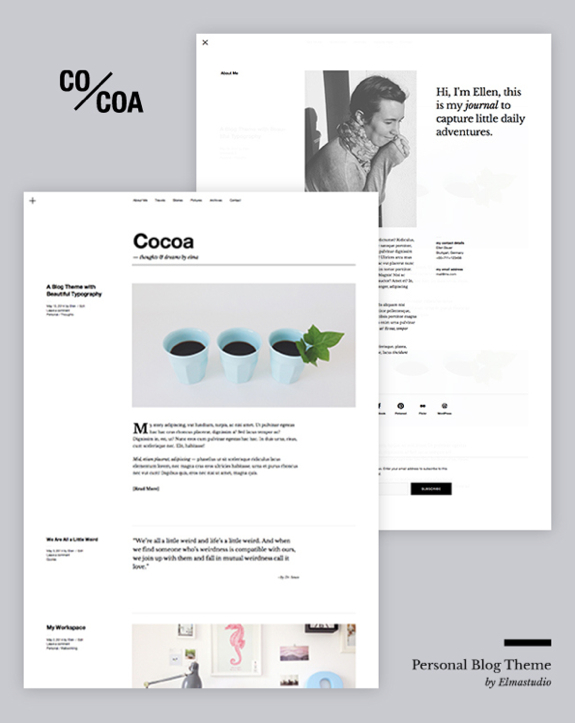 Cocoa Theme — WordPress Themes for Blogs at WordPress.com