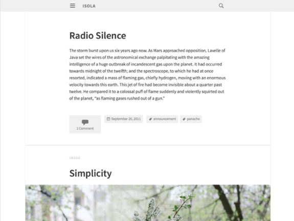 Isola Theme — WordPress Themes for Blogs at WordPress.com