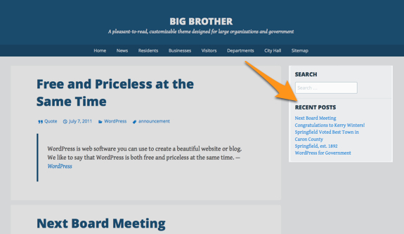 News   Big Brother   A pleasant-to-read, customizable theme designed for large organizations and government