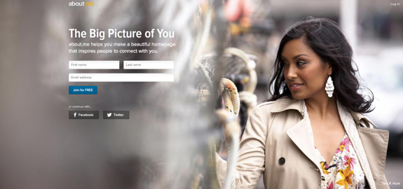 about.me | your personal homepage
