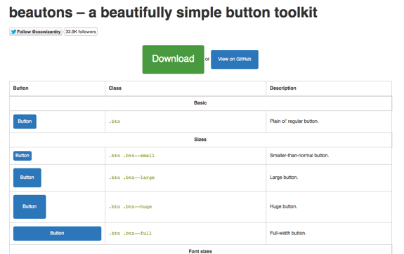 beautons – a beautifully simple button toolkit
