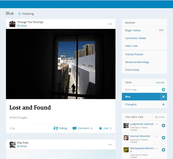 Blue — WordPress.com