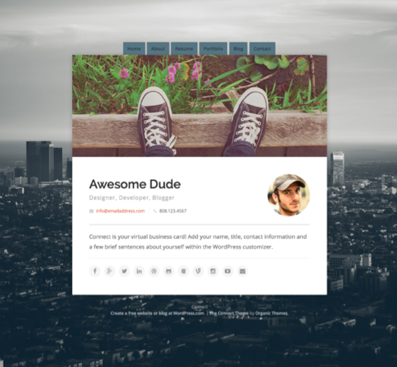 Connect Theme — WordPress Themes for Blogs at WordPress.com