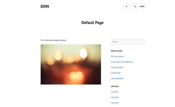 Default Page | Edin