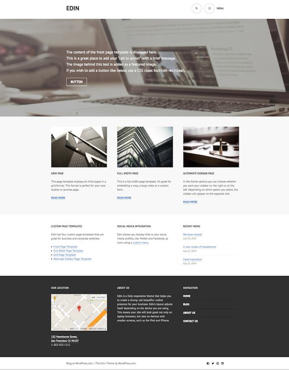 Edin | A modern business theme