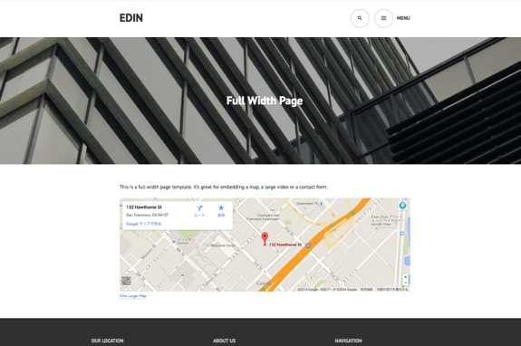 Full Width Page | Edin