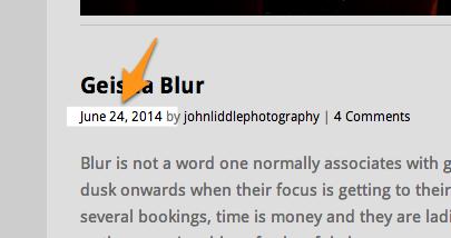 Geisha Blur | johnliddlephotography
