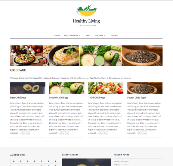 Grid Page   Healthy Living