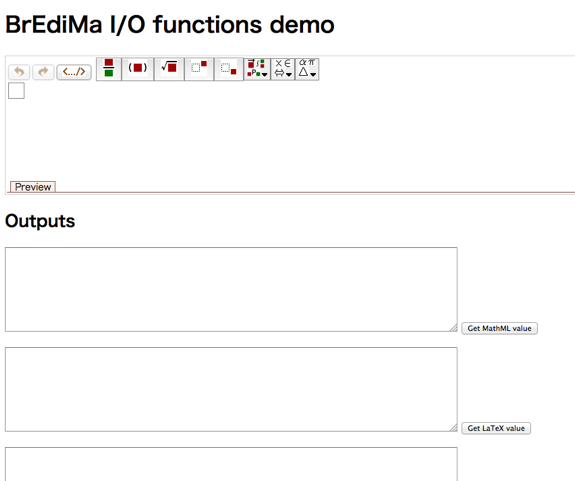 BrEdiMa I/O functions demo