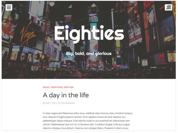 Eighties Theme — WordPress Themes for Blogs at WordPress.com