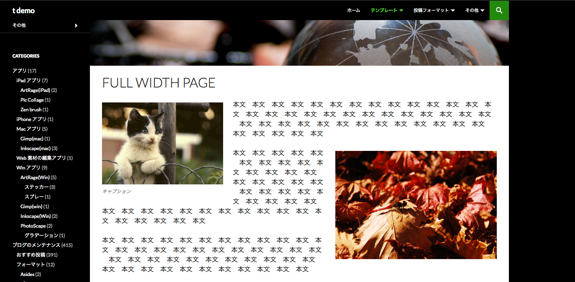 Full Width Page | t demo