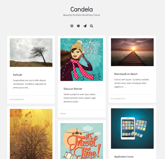 Candela | Beautiful Portfolio WordPress Theme
