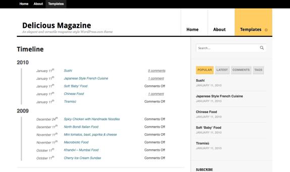 Delicious Magazine   Timeline