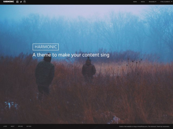 Harmonic Theme — WordPress Themes for Blogs at WordPress.com