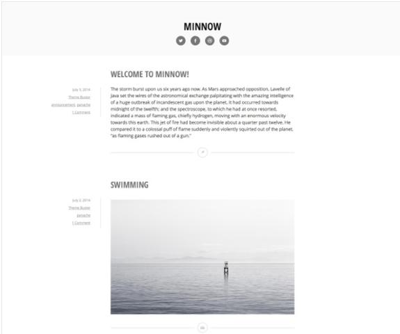 Minnow Theme — WordPress Themes for Blogs at WordPress.com