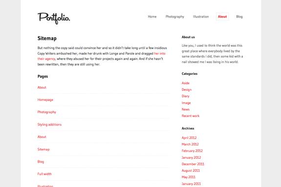 Sitemap | Portfolio.