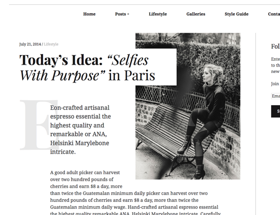 "Today's Idea_ ""Selfies With Purpose"" in Paris 