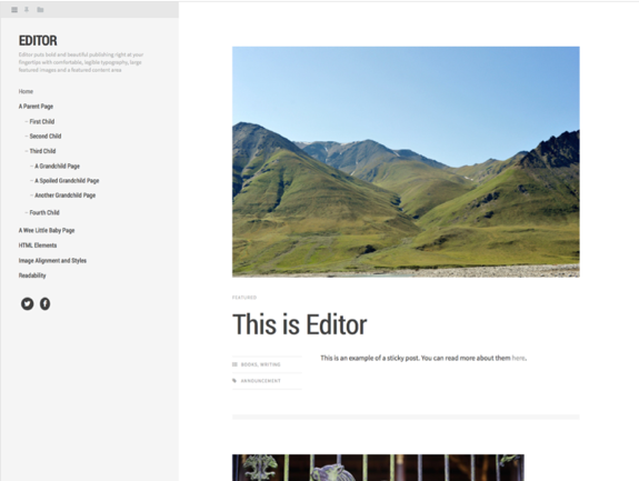 Editor Theme — WordPress Themes for Blogs at WordPress.com
