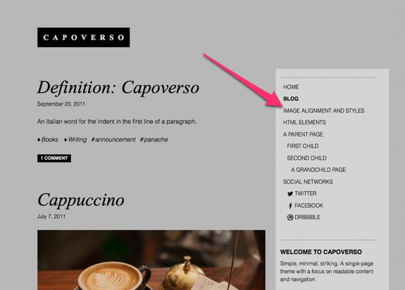 Blog | Capoverso | A beautifully simple artsy portfolio theme