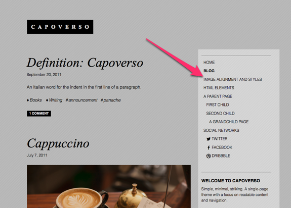 Blog | Capoverso | A beautifully simple artsy portfolio theme