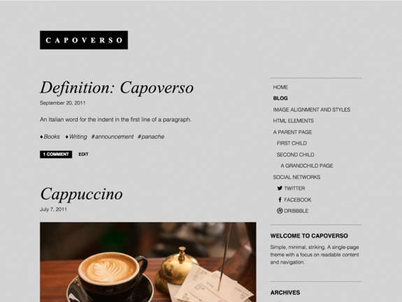 Capoverso Theme — WordPress Themes for Blogs at WordPress.com