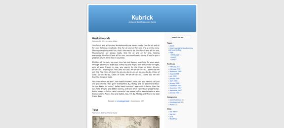 Kubrick | A classic WordPress.com theme