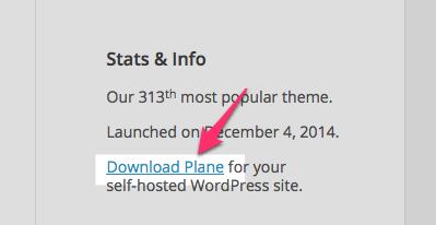 Plane Theme — WordPress Themes for Blogs at WordPress.com
