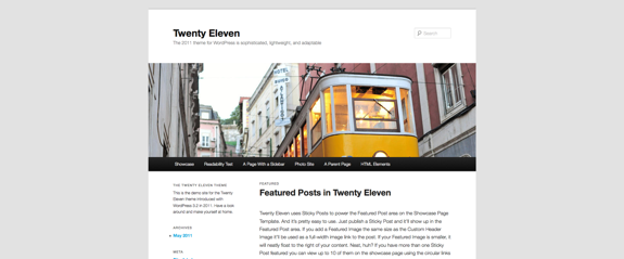 Twenty Eleven | The 2011 theme for WordPress is sophisticated, lightweight, and adaptable