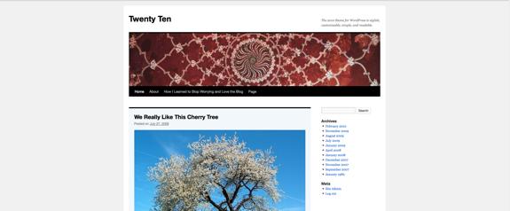 Twenty Ten | The 2010 theme for WordPress is stylish, customizable, simple, and readable.