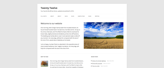 Twenty Twelve | Your favorite WordPress theme, updated and polished for 2012.