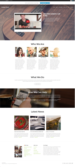 Purpose Theme  A versatile business theme designed with purpose