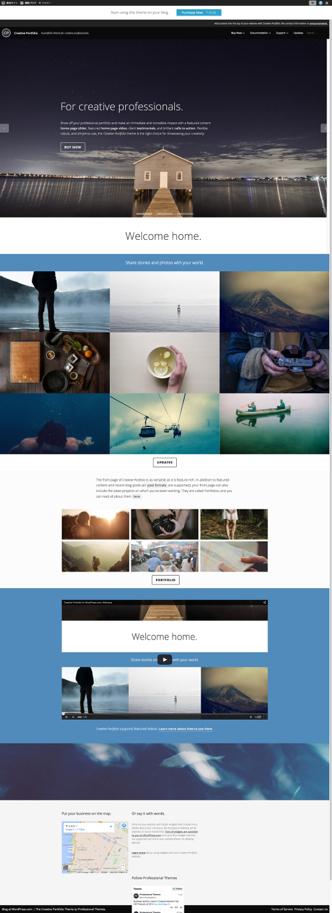 Creative Portfolio  A portfolio theme for creative professionals.