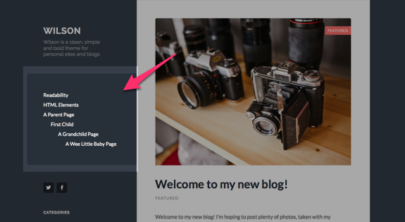 Wilson | Wilson is a clean, simple and bold theme for personal sites and blogs