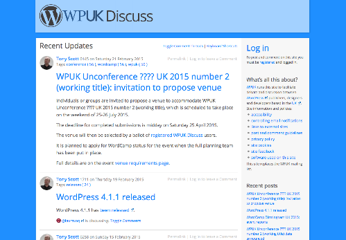 WPUK Discuss   WordPress debate and discussion in the UK