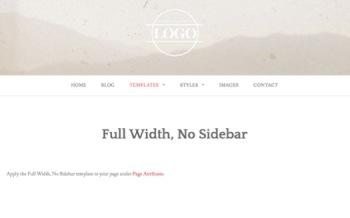 Full Width, No Sidebar